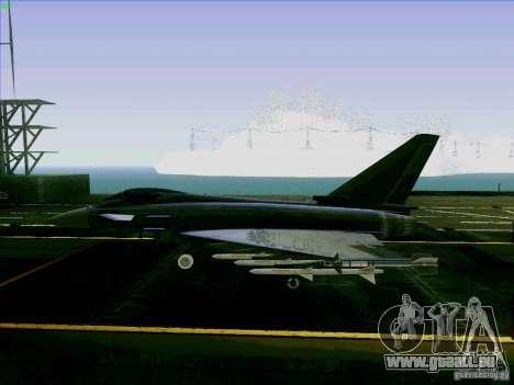 Eurofighter-2000 Typhoon pour GTA San Andreas laissé vue