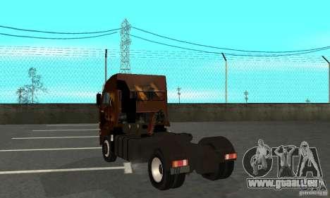 KAMAZ 5460 4 peau pour GTA San Andreas vue de droite