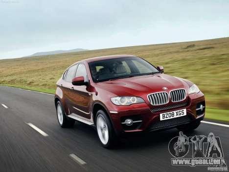 Écrans de chargement BMW X 6 pour GTA San Andreas troisième écran