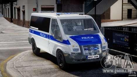 Ford Transit Polish Police [ELS] für GTA 4 rechte Ansicht