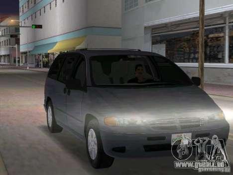 Dodge Grand Caravan für GTA Vice City Rückansicht