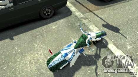 HellFire Chopper pour GTA 4 Vue arrière de la gauche