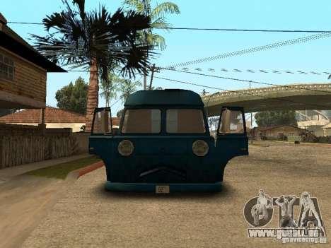 Hotdog civil Van pour GTA San Andreas vue de droite