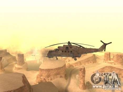 Mi-24p Desert Camo pour GTA San Andreas vue arrière