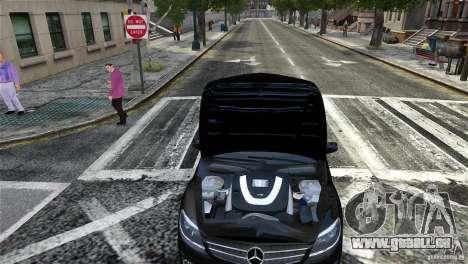 Mercedes-Benz CL65 AMG v1.5 pour GTA 4 vue de dessus