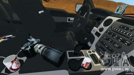 Ford F-150 SVT Raptor pour GTA 4 Salon