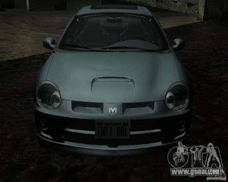 Dodge Neon pour GTA San Andreas laissé vue