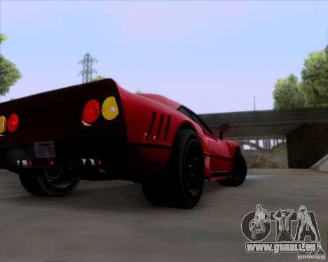 Ferrari 288 GTO für GTA San Andreas Rückansicht