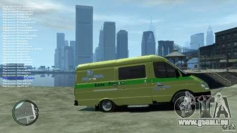 Gazelle 2705-Transport-Dienstleistungen für GTA 4 rechte Ansicht