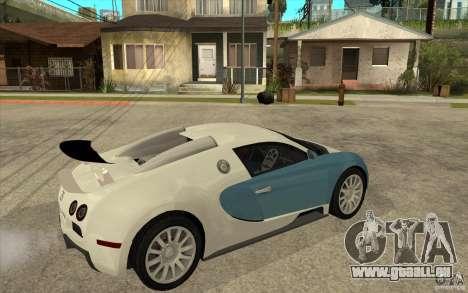 Bugatti Veyron Final für GTA San Andreas rechten Ansicht