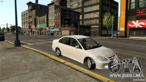 Honda Civic V-Tec pour GTA 4 est une gauche