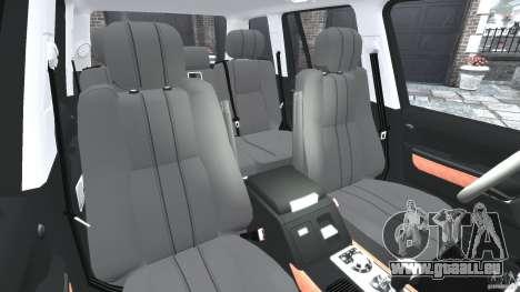 Range Rover Supercharged 2008 pour GTA 4 est une vue de l'intérieur