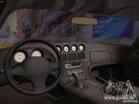 Dodge Viper 1996 für GTA San Andreas Innenansicht