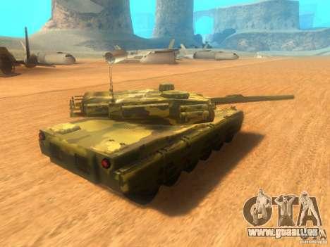 Rhino pour GTA San Andreas sur la vue arrière gauche