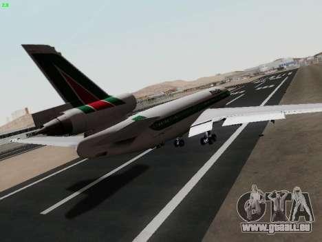 McDonell Douglas DC-10-30 Alitalia pour GTA San Andreas sur la vue arrière gauche