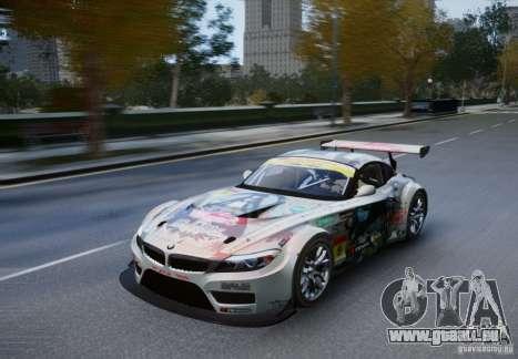 BMW Z4 GT3 2010 V.2.0 pour GTA 4 Vue arrière de la gauche