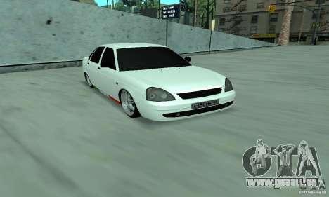 Lada Priora Italia pour GTA San Andreas laissé vue