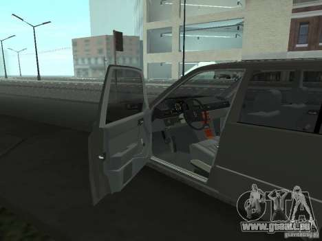 Mercedes-Benz 250D pour GTA San Andreas vue intérieure