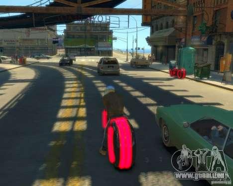 Motorrad des Throns (neonrot) für GTA 4 linke Ansicht