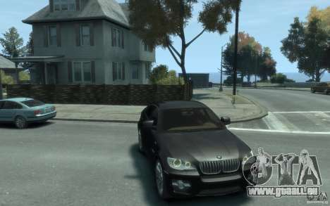 BMW X6 für GTA 4 Rückansicht