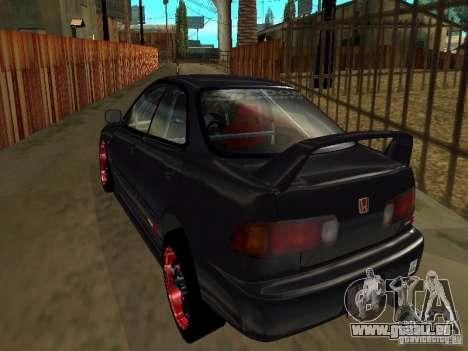Honda Integra TypeR pour GTA San Andreas vue de côté