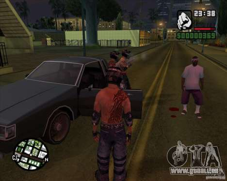 Nouveaux skins pour rainure pour GTA San Andreas deuxième écran