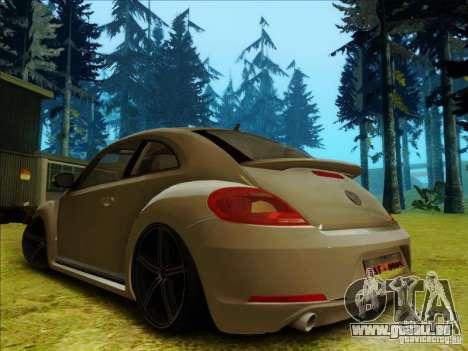 Volkswagen New Bettle 2013 Edit pour GTA San Andreas sur la vue arrière gauche
