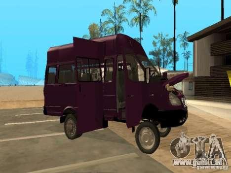 Taxi de Gazelle 32213 pour GTA San Andreas vue intérieure