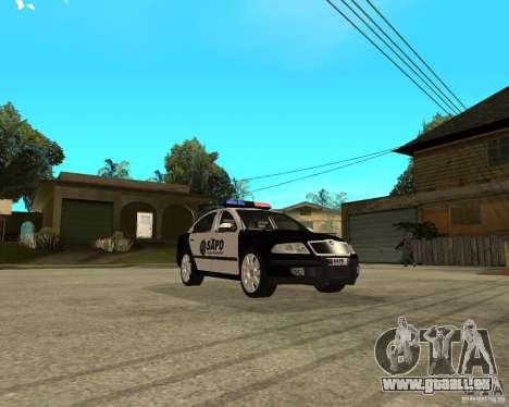 Skoda Octavia II 2005 SAPD POLICE pour GTA San Andreas vue arrière