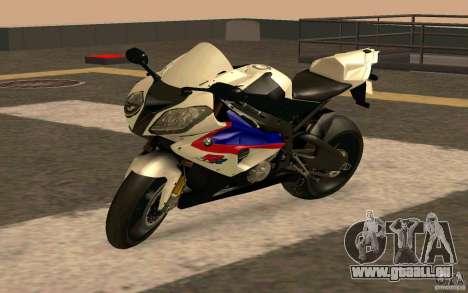 BMW S1000RR City Version für GTA San Andreas zurück linke Ansicht