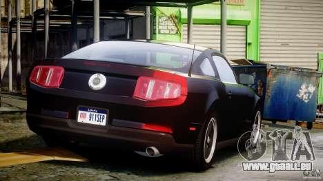 Ford Mustang V6 2010 Chrome v1.0 pour GTA 4 vue de dessus