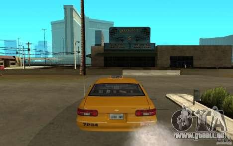 Chevrolet Caprice taxi pour GTA San Andreas vue de droite