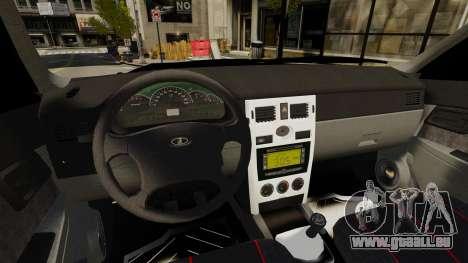 Vaz-2170 pour GTA 4 Vue arrière