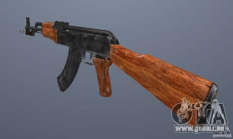 AK 47 avec baïonnette pour GTA San Andreas troisième écran