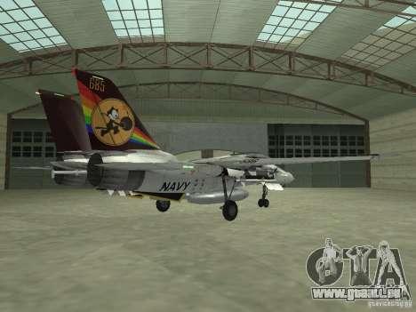 F-14 pour GTA San Andreas sur la vue arrière gauche