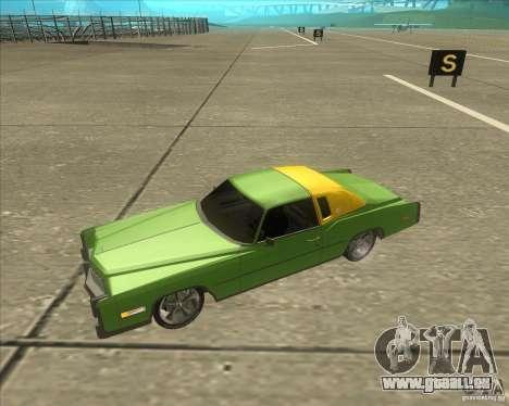 Cadillac Eldorado pour GTA San Andreas salon