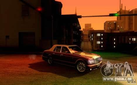 Bentley Arnage R 2005 für GTA San Andreas Rückansicht