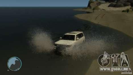 Mitsubishi Pajero Wagon pour GTA 4 est une vue de dessous