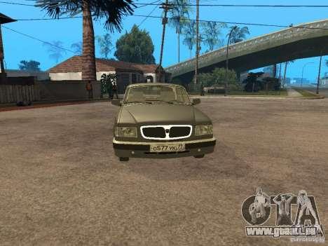 GAZ 3110 v 2 pour GTA San Andreas sur la vue arrière gauche