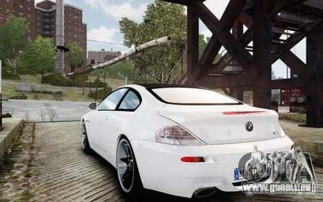 BMW M6 Coupe E63 2010 pour GTA 4 Vue arrière de la gauche
