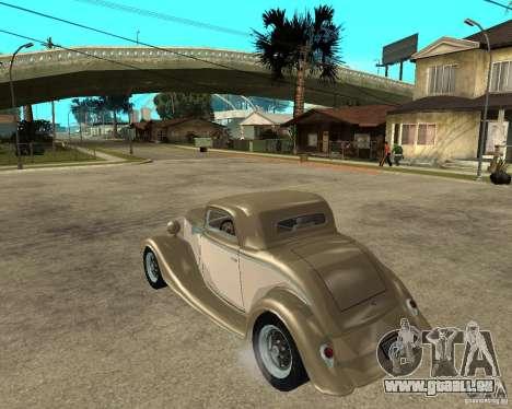Ford 1934 Coupe v2 pour GTA San Andreas laissé vue