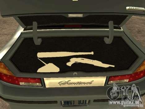 HD Mafia Sentinel pour GTA San Andreas vue arrière