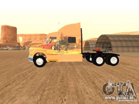 Peterbilt 387 peau 3 pour GTA San Andreas sur la vue arrière gauche