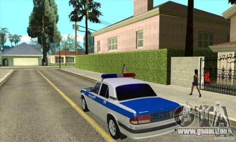 GAZ 31105 Volga DPS pour GTA San Andreas sur la vue arrière gauche