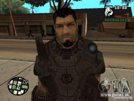 Dominic Santiago de Gears of War 2 pour GTA San Andreas quatrième écran