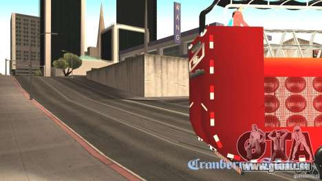Scania 93H 6x2 Trio Eletrico für GTA San Andreas zurück linke Ansicht