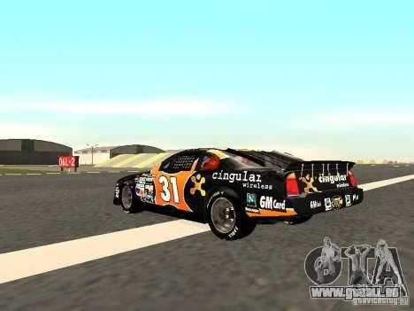 Chevrolet Monte Carlo Nascar CINGULAR Nr.31 pour GTA San Andreas sur la vue arrière gauche