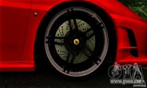 Ferrari F430 Novitec Rosso für GTA San Andreas Rückansicht