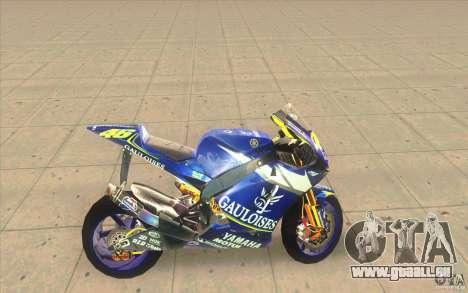 Yamaha M1 Rossi für GTA San Andreas linke Ansicht