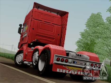 Scania R620 Brahma für GTA San Andreas zurück linke Ansicht